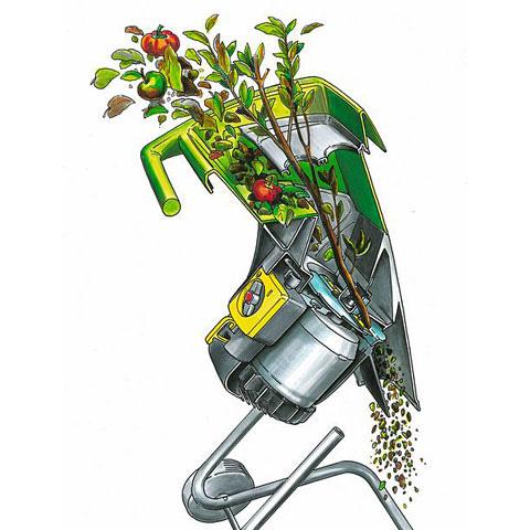 Измельчитель садовый электрический своими руками видео
